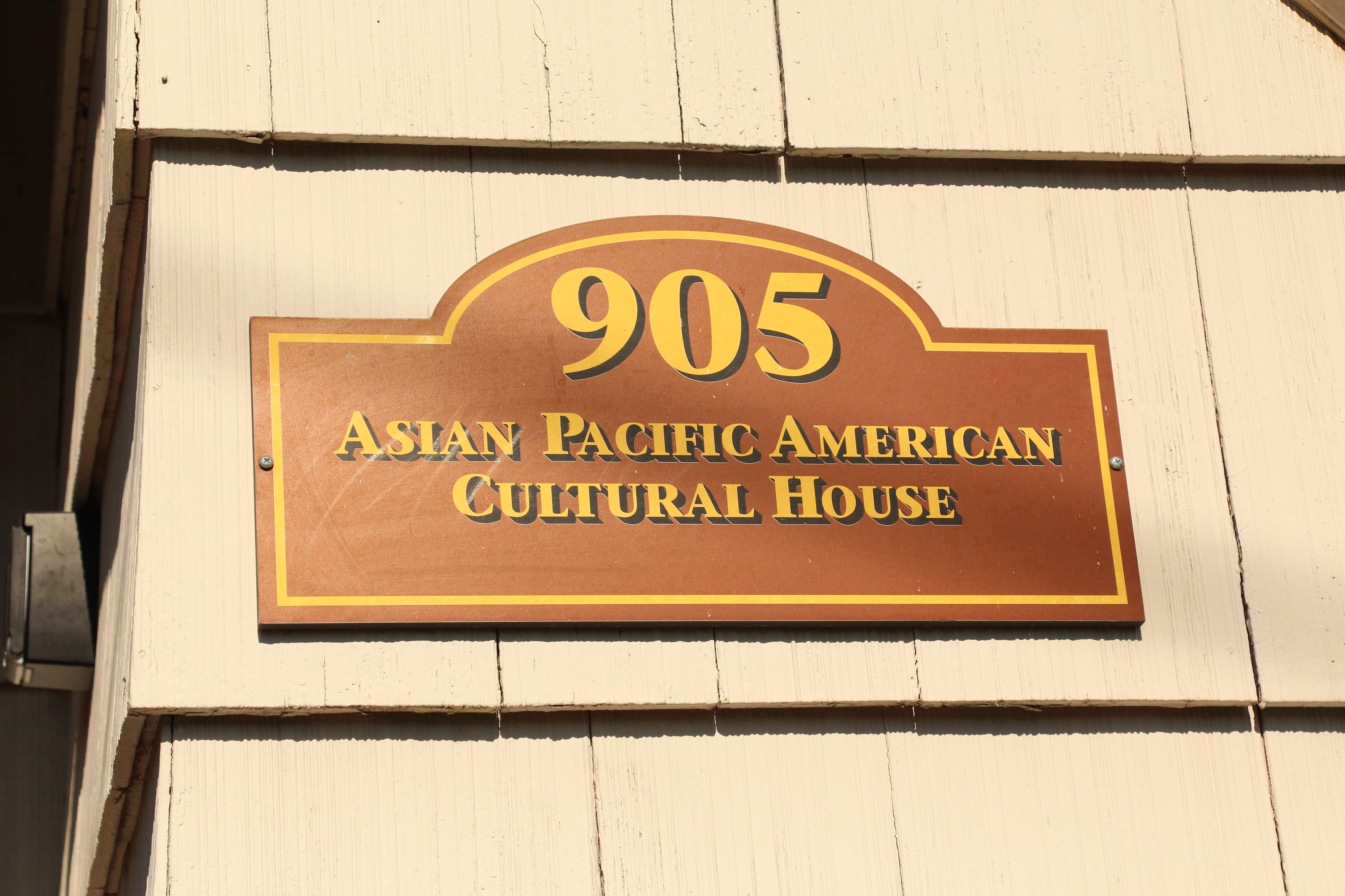 Placard for Asian Pacific American Cultural House